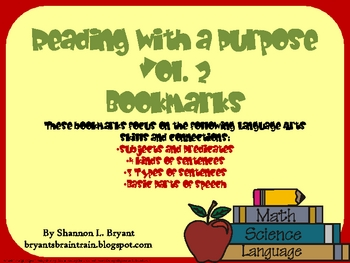 Guided Reading Bookmarks Volume 2