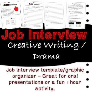 Guided Job Interview Skit Template with Prompts and Ideas *Orals-Drama-Sub*