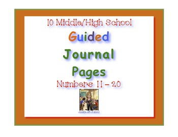Guided Journal Pages 11- 20