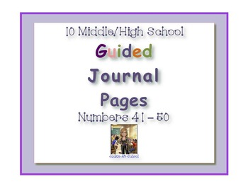 Guided Journal Pages 41 - 50