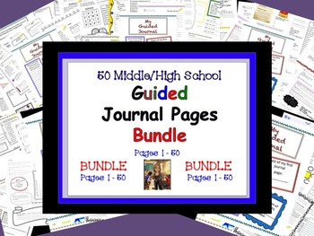Guided Journal Pages BUNDLE Pages 1-50