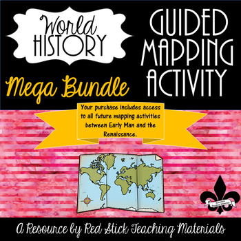 Guided Mapping Growing Bundle for World History--NO PREP!
