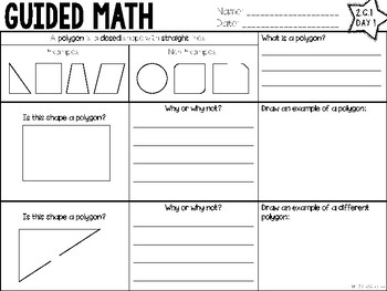 Guided Math | 2.G.1 | Geometry Shapes