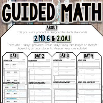 Guided Math | 2.MD.6 & 2.OA.1 | Number Lines & Word Problems