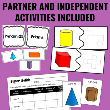 Guided Math Centers: 3-Dimensional Shapes Geometry