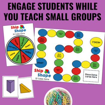 Guided Math Centers: 3D Shapes Geometry