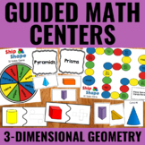 Guided Math Centers: 3D Solids Geometry