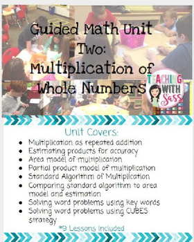 Guided Math 5th Grade: Multiplication of Whole Numbers