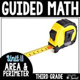 Guided Math AREA & PERIMETER - Grade 3