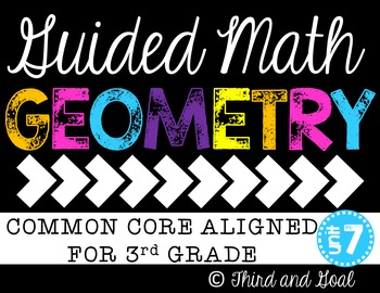 Guided Math Activity Pack for Third Grade Geometry-FREEBIE