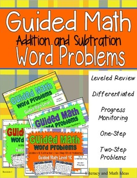Guided Math (Addition and Subtraction Word Problem Bundle)