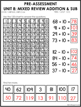 Guided Math Assessments First Grade