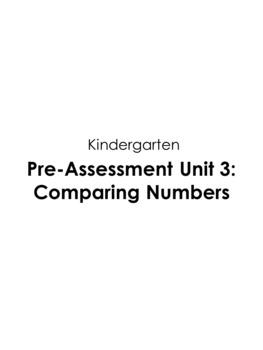 Guided Math Assessments Kindergarten