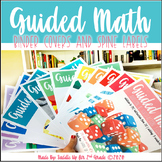 Guided Math Binder Covers and Spine Labels