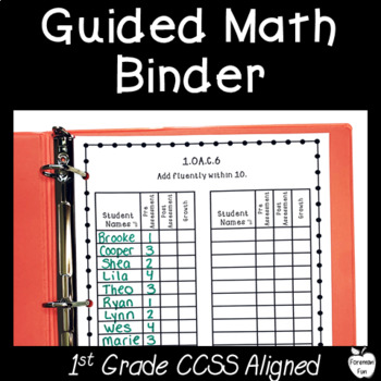 Guided Math Binder Recording Sheets ~ 1st Grade ~ Editable