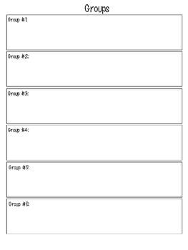 Guided Math Binder Sheets