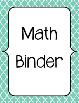 Guided Math Binder and Planning Template