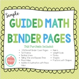 Guided Math Binder for Small Group Instruction