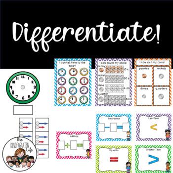 Guided Math Binders Kindergarten: RTI, GATE, differentiated