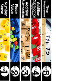Guided Math Bundle Second Grade Spine Labels