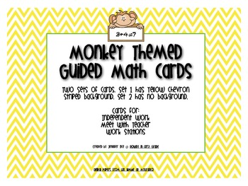 Guided Math Cards with Monkey Theme