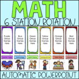 Math Center Rotation Chart Automatic PowerPoint