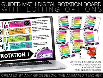 Guided Math Digital Rotation Board