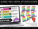 Guided Math Digital Rotation Board Pack with Timers