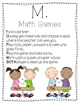 Guided Math Display Charts M.A.T.H.!