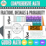 Guided Math | FRACTIONS DECIMALS PROBABILITY | GR 3-6 | NEW Ont Math 2020