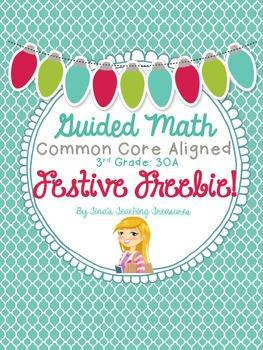 Guided Math: Festive Freebie! 3 Digit +/- Word Problems