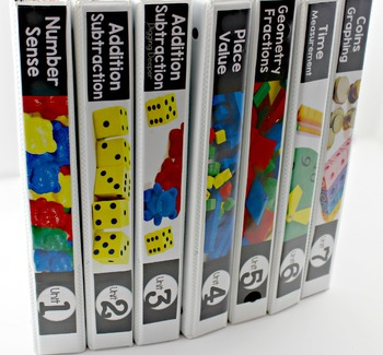 Guided Math First Grade Spine Labels