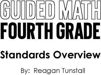 Guided Math Fourth Grade Standards Overview