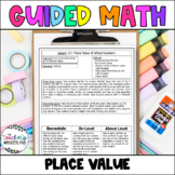 Guided Math Fourth Grade Unit 2- Place Value