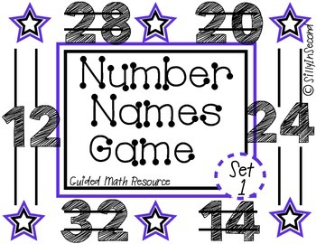 Guided Math Game: Rolling Number Names Set 1