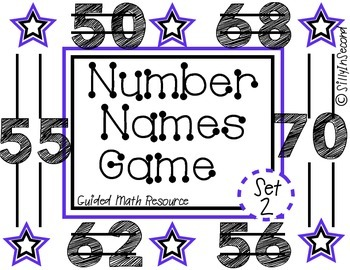 Guided Math Game: Rolling Number Names Set 2