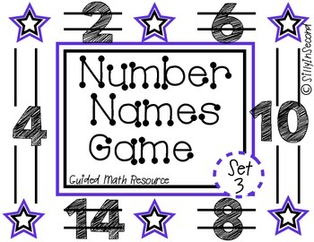 Guided Math Game: Rolling Number Names Set 3