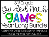 Guided Math Games BUNDLE for Third Grade
