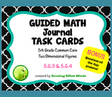 5th Grade Guided Math Geometry Journal Task Cards