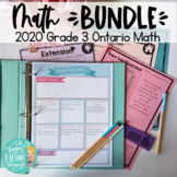 Grade 3 Math 2020 Ontario ALL STRANDS BUNDLE (all expectat