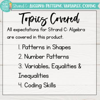Guided Math Grade 3 Ontario: Patterning and Algebra