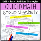 Guided Math Group Checklists: Basic Addition