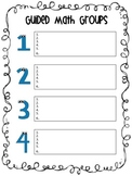 Guided Math Group Organizer