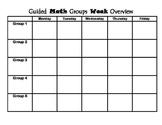Guided Math Group Organizer