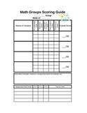 Guided Math Group Scoring Rubric