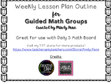 Guided Math Groups Lesson Plan Outline