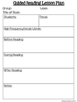 Guided Math & Guided Reading Editable Lesson Plan Templates FREEBIE