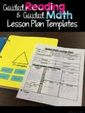 Guided Math & Guided Reading Editable Lesson Plan Template