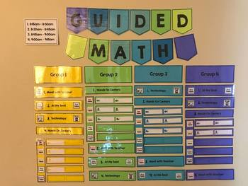 Guided Math Kinder Kick Start [EDITABLE Chart]