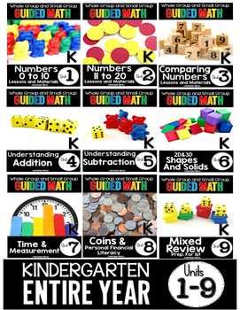 Guided Math Kindergarten Spine Labels